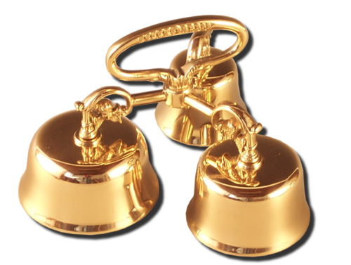 Pair of hand bells with grip