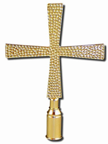 Ornamental cross hammered